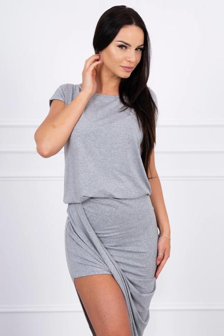 af6560134852 Asymetrické šaty sivé