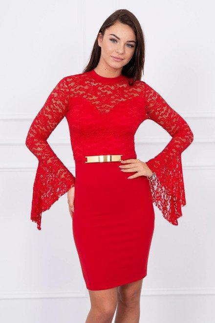 d51de49d9ebb Červené šaty s čipkou top