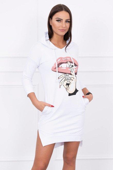 e4f5da05bc6c Športové šaty s farebnou potlačou biele