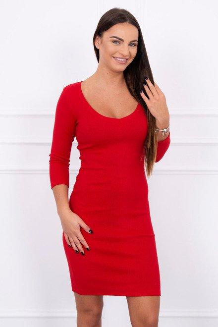d9cbe68ca7bd Červené šaty s dekoltom