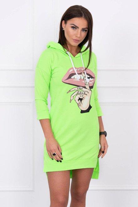 3dc3463e1090 Športové šaty s farebnou potlačou zelený neon