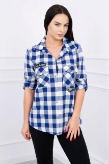 22bf090ade Károvaná košeľa modrá empty