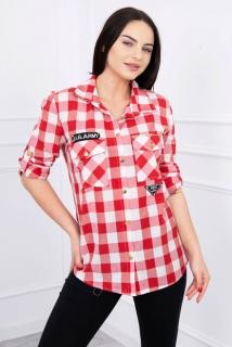 6e3eb2a6b7 Károvaná košeľa bielo-červená empty