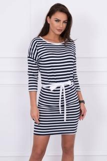 Pruhované šaty námornícka modrá empty 9f56c312cb1